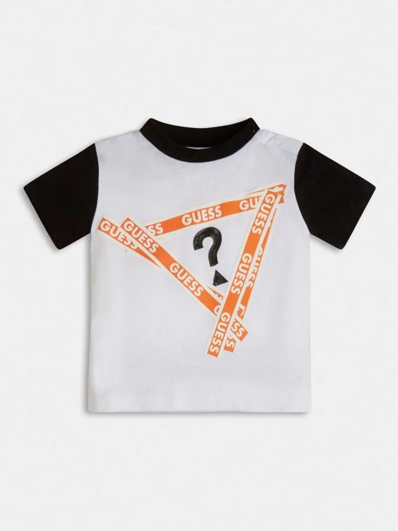 Guess Kids White Jersey Front Logo T-Shirt