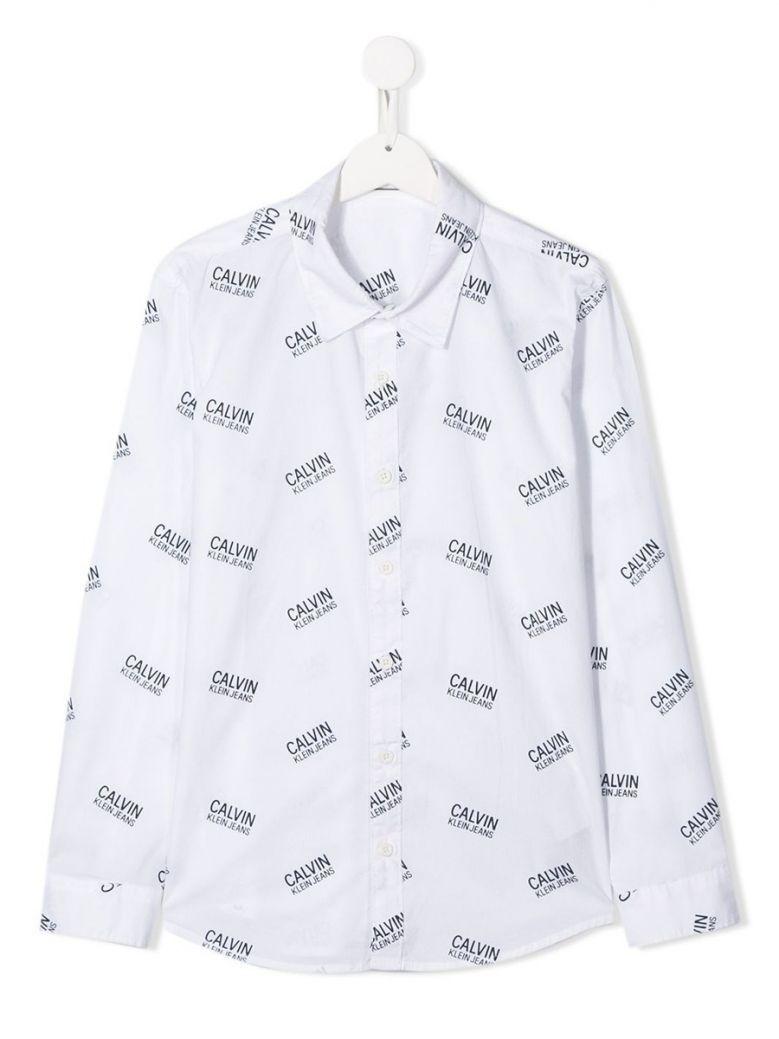 Calvin Klein Jeans Bright White Logo Stamp Shirt