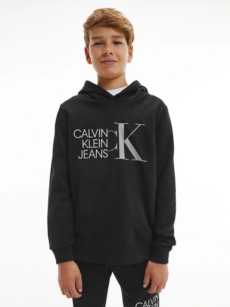 Calvin Klein Jeans Organic Cotton Logo Hoodie Black