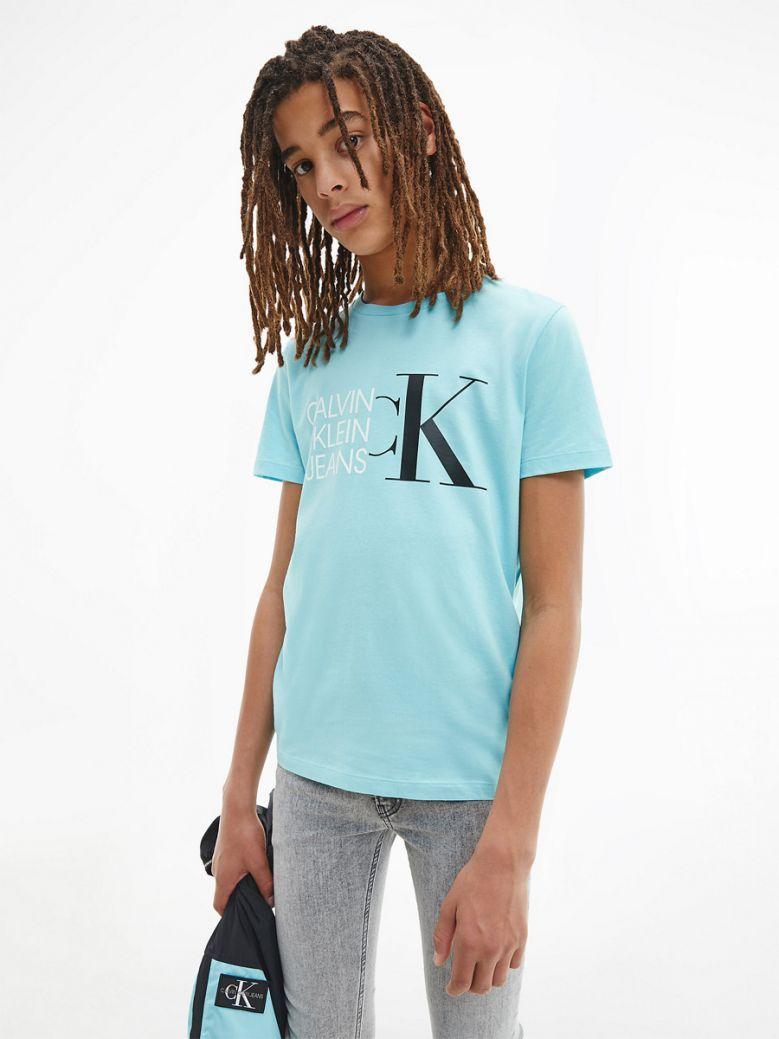 Calvin Klein Kids Bright Sky Organic Cotton Logo T-Shirt