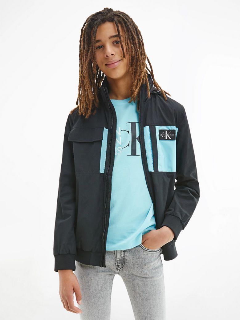 Calvin Klein Jeans Kids Black Nylon Zip Up Jacket