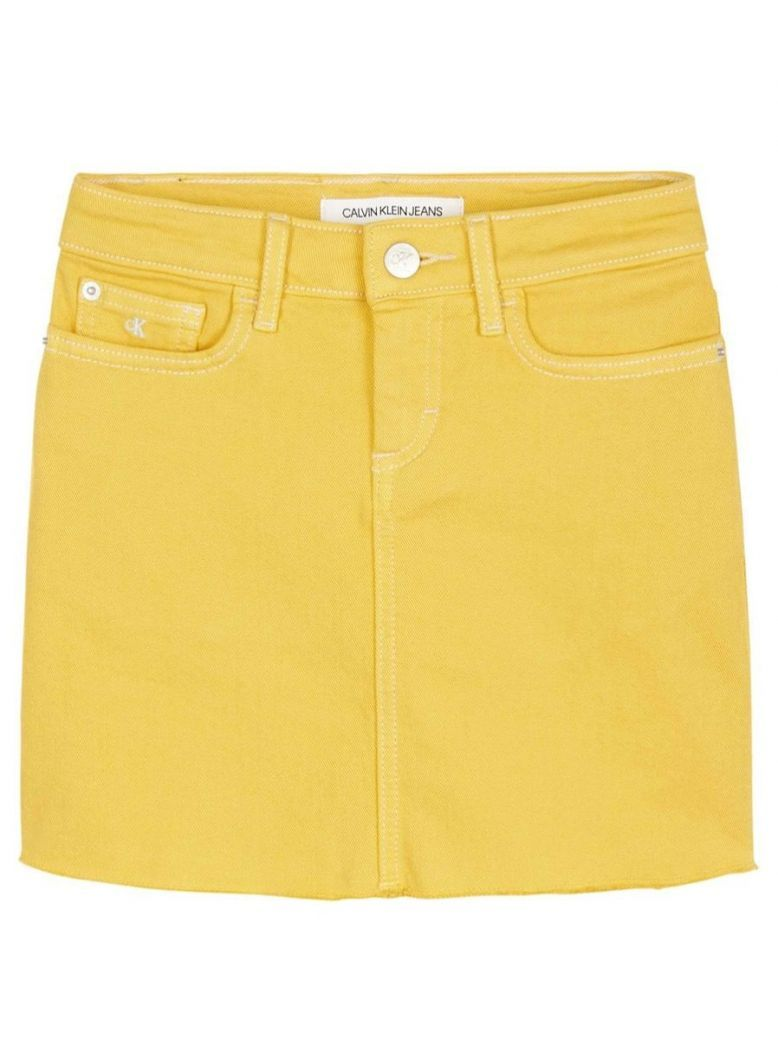 Calvin Klein Jeans Yellow Denim Skirt