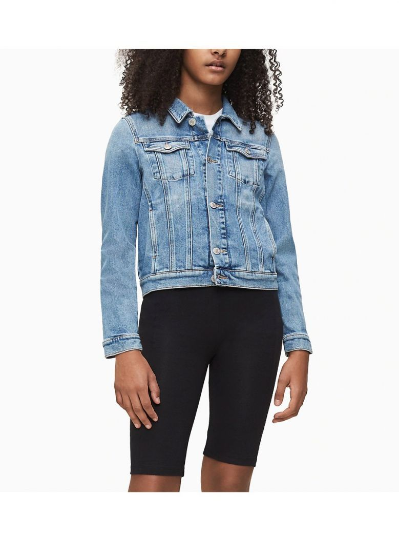 Calvin Klein Jeans Denim Girls Trucker Denim Jacket