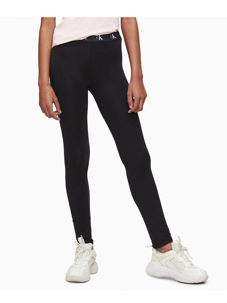 Calvin Klein Jeans Black Monogram Waistband Leggings