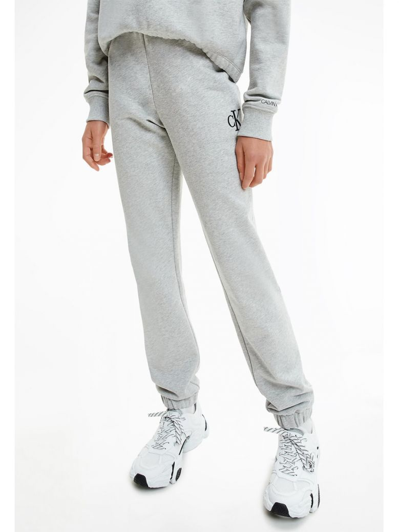 Calvin Klein Jeans Kids Light Grey Heather Sustainability Relaxed Organic Cotton Joggers