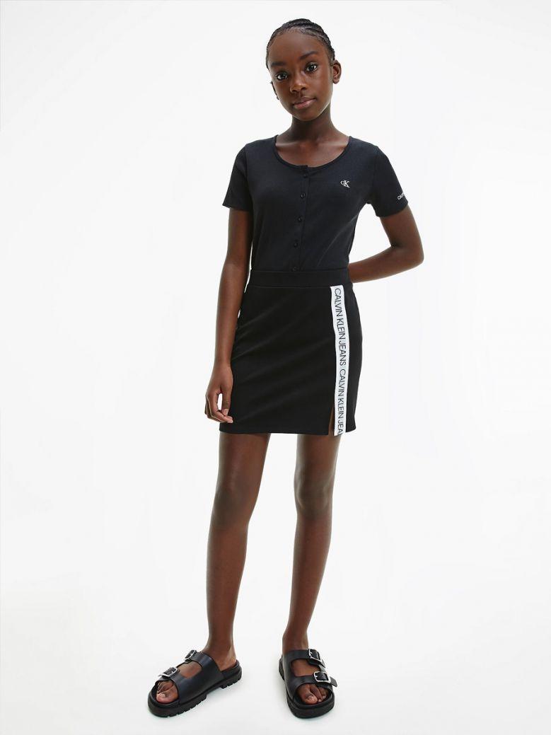 Calvin Klein Jeans Kids Black Milano Jersey Mini Skirt