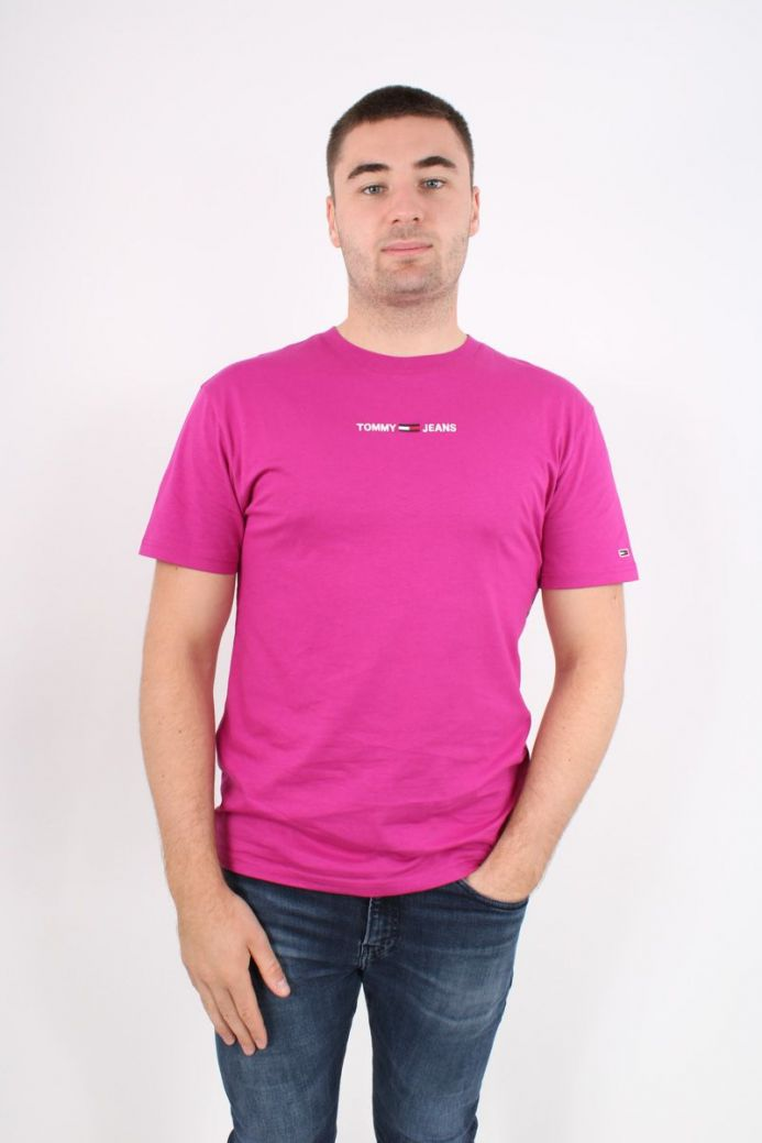 Tommy Jeans Men Organnic Cotton T-Shirt Purple