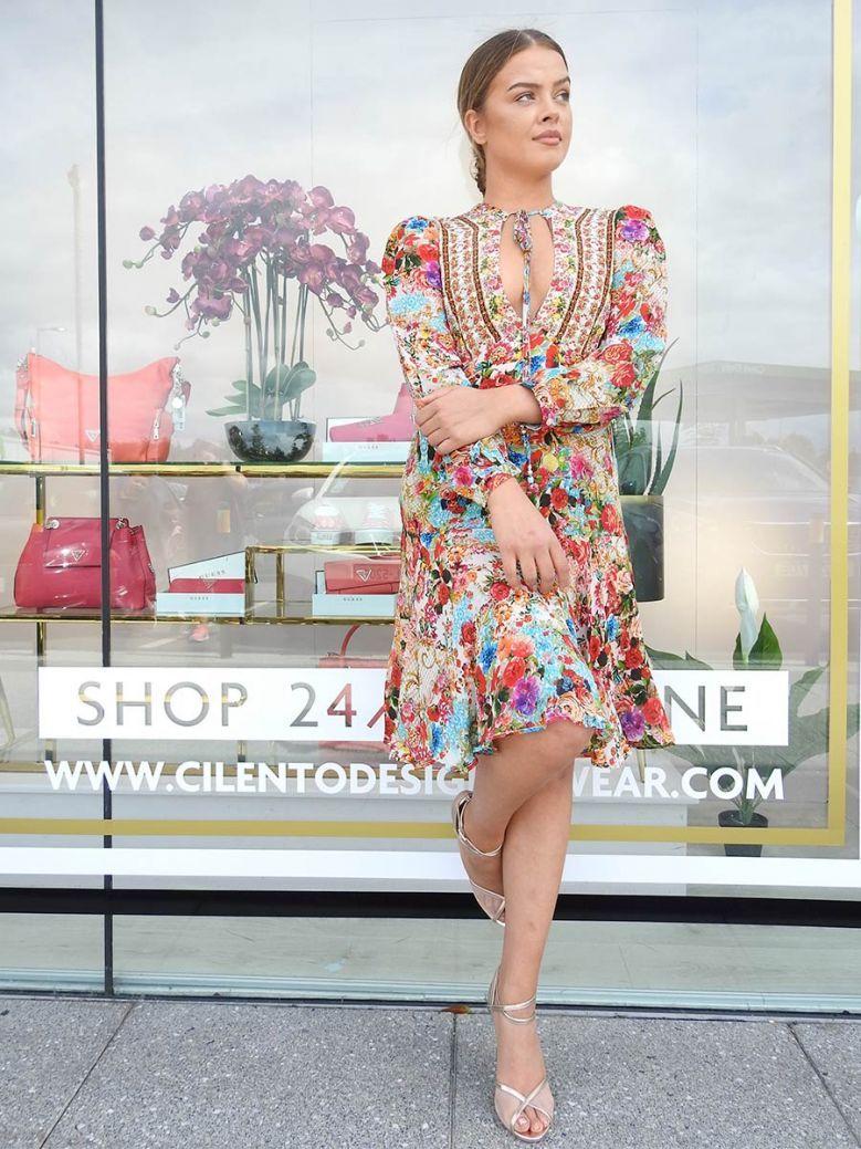 Inoa Covent Garden Floral Silk Mini Dress