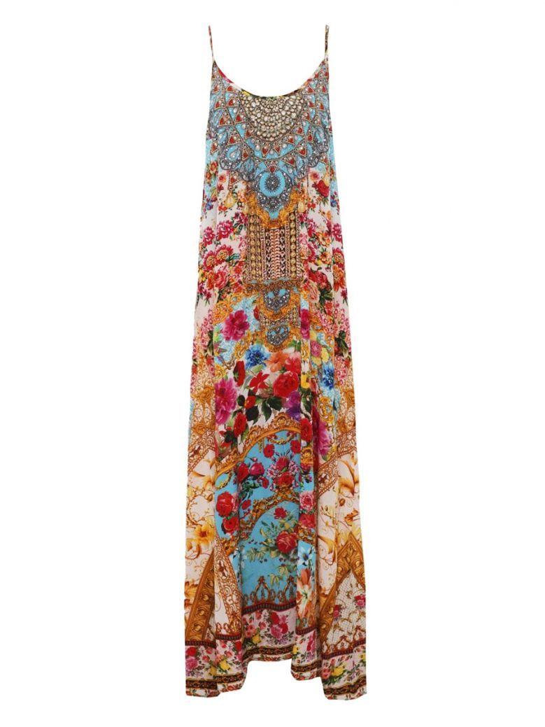 Inoa Multi Floral Silk Embellished Maxi Dress