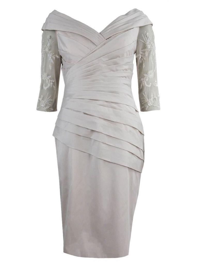 Irresistible Off Shoulder Dress, Pearl, Style IR5005