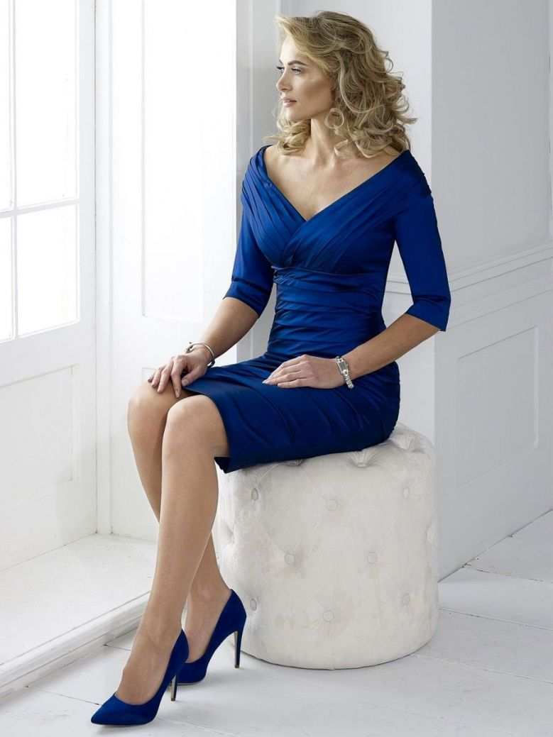 Irresistible Off Shoulder Ruched Detail Dress, Midnight Blue, Style IR5034