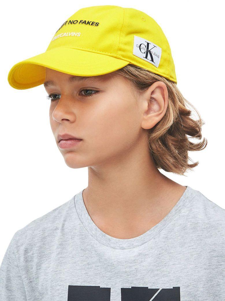 Calvin Klein Jeans Unisex Warm Yellow Slogan Baseball Cap