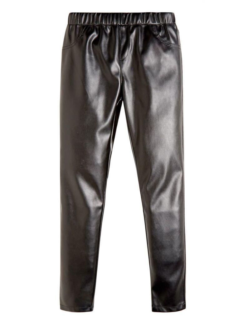 Guess Kids Black Faux Leather Leggings