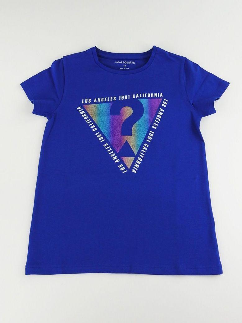 Guess Kids Blue Rainbow Foil Triangle Foil Logo