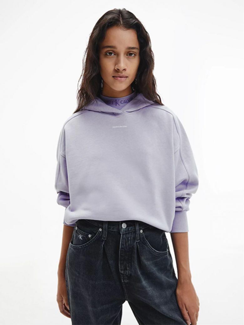 Calvin Klein jeans Ladies Parma Lilac Oversized Organic Cotton Hoodie