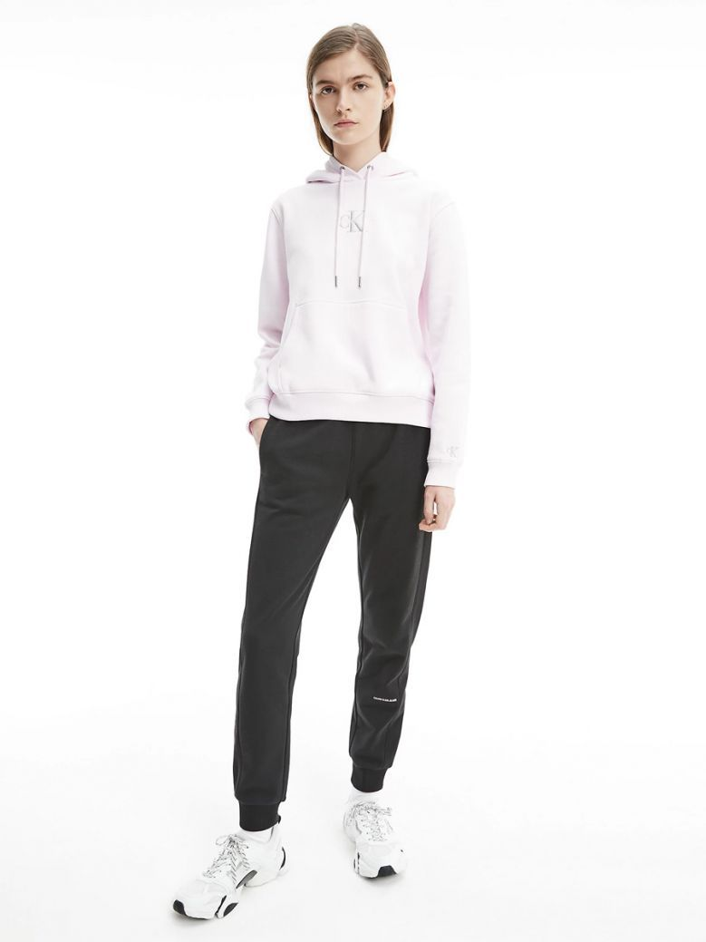 Calvin Klein Pearly Pink Embroidered Logo Hoody