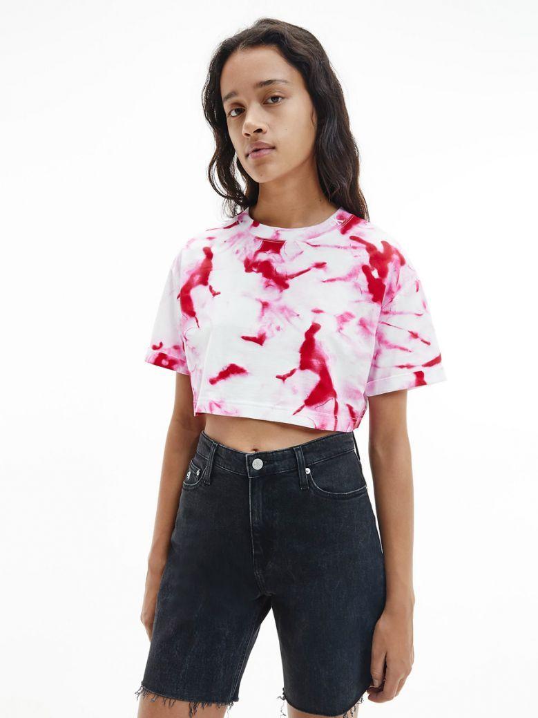 Calvin Klein Jeans Cerise Marble Print T-Shirt