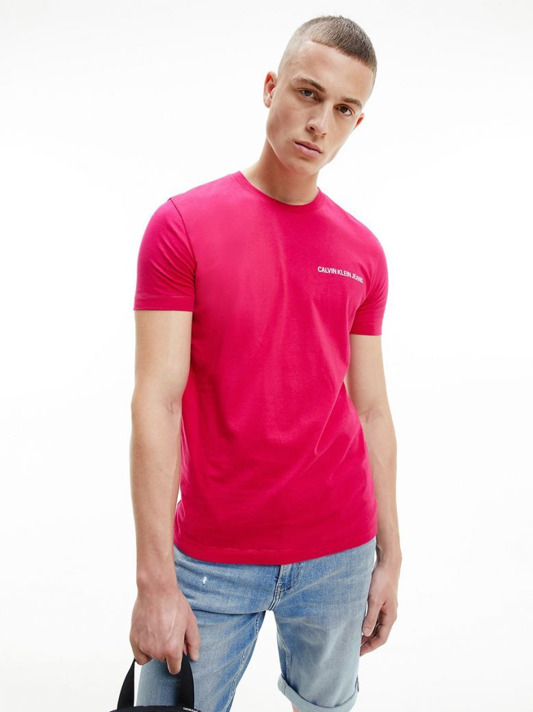 Calvin Klein Jeans Muscle Fit Logo T-Shirt Pink