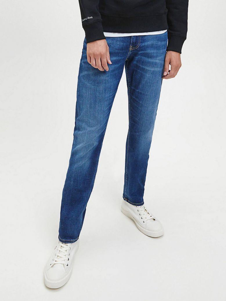 Calvin Klein Jeans Mens Mid Blue Slim Jeans
