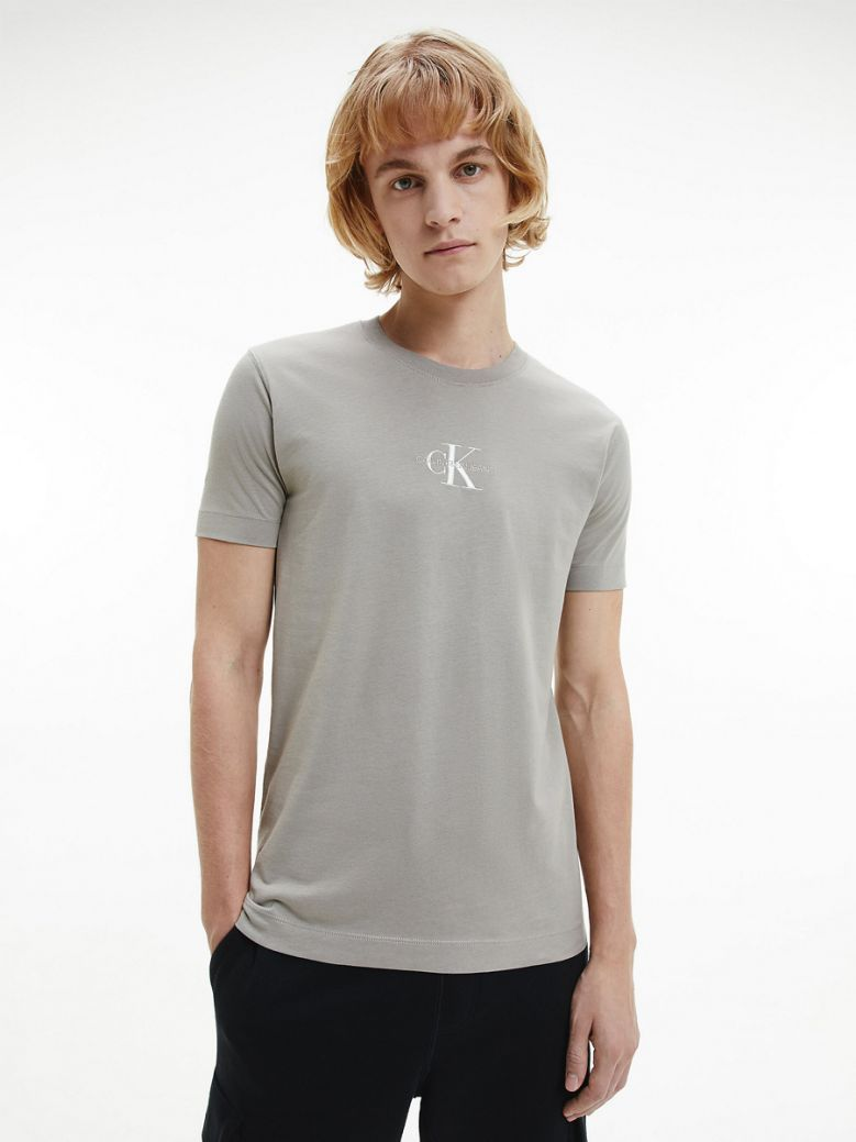 Calvin Klein Jeans Mens Stone Slim Monogram T-Shirt