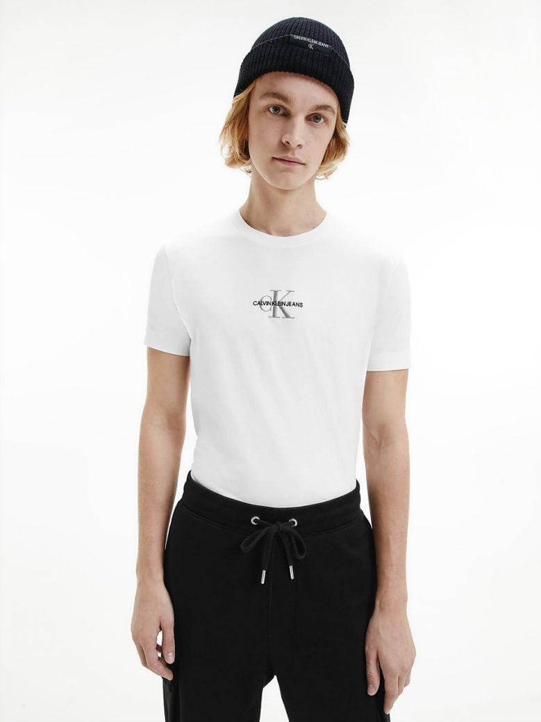 Calvin Klein Jeans Mens Bright White Slim Monogram T-Shirt