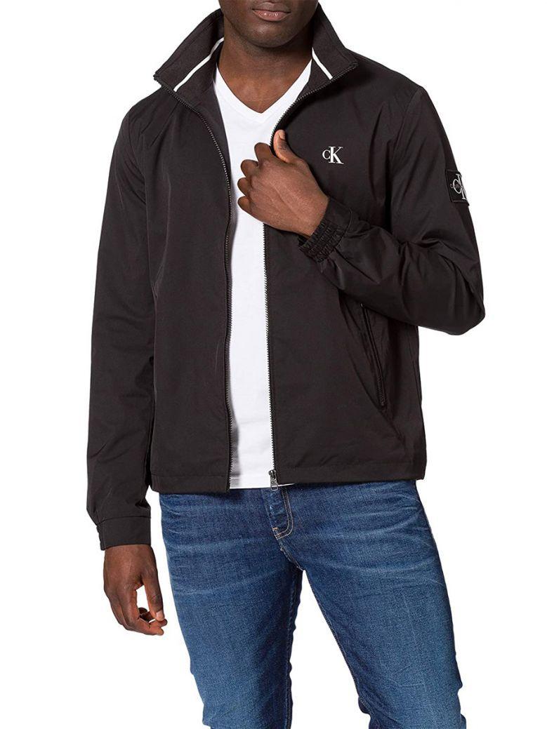 Calvin Klein Jeans Mens Black Harrington Sports Jacket