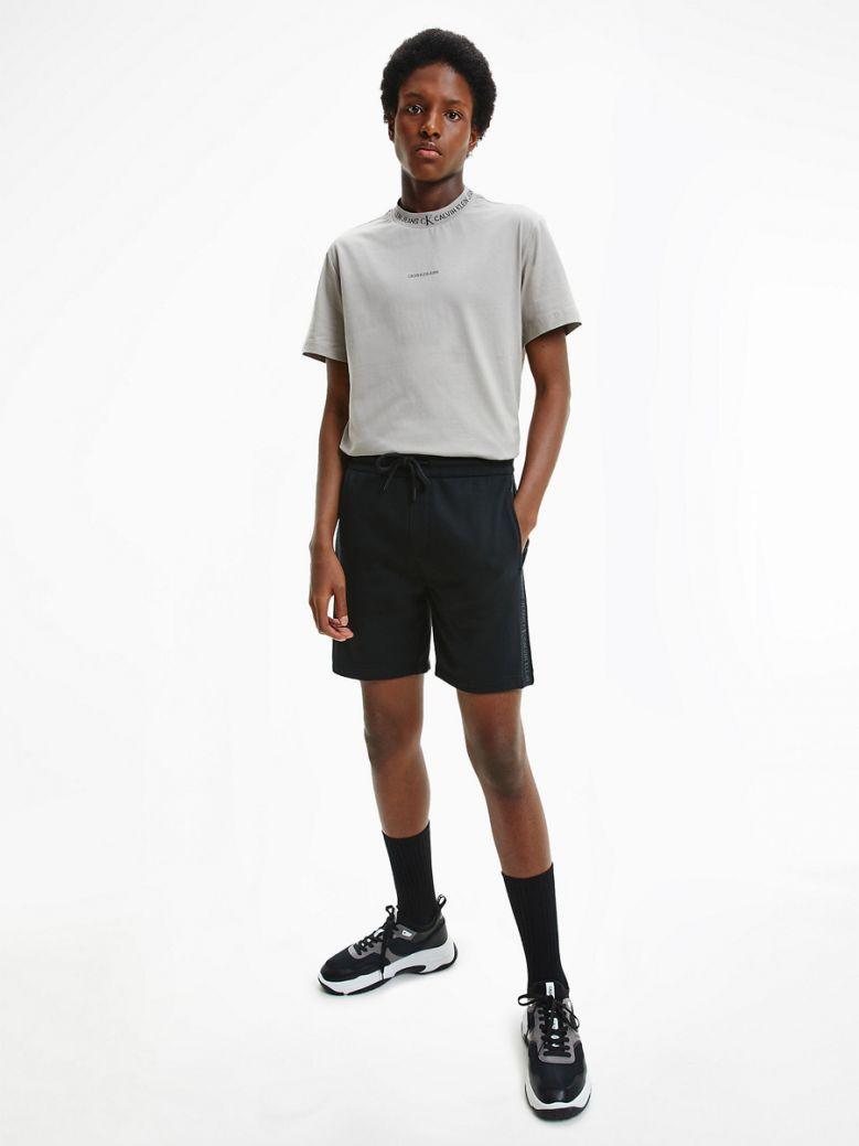 Calvin Klein Jeans Mens Black Organic Cotton Side Logo Shorts
