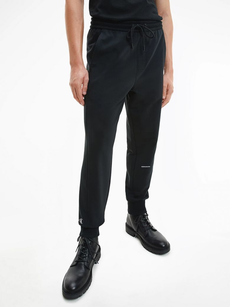 Calvin Klein Jeans Black Organic Cotton Joggers