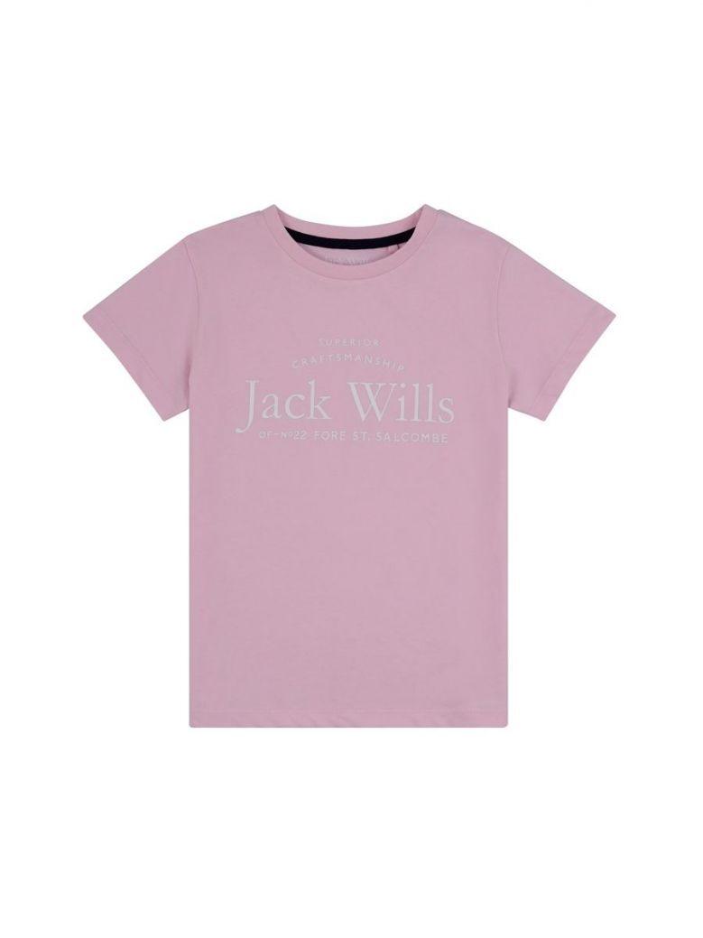 Jack Wills Script Tee Pink