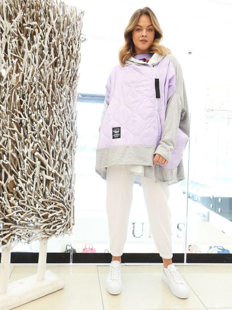 Cilento Woman Lilac Side Zip Jacket