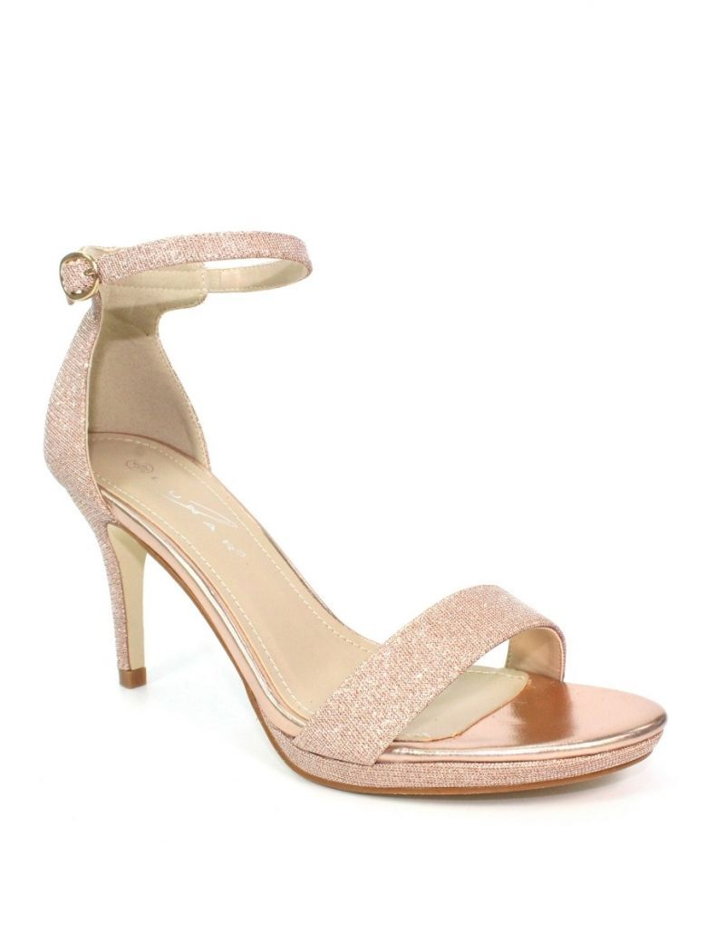 Lunar Rose Perdita Glitter Silk Heels