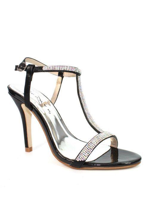 Lunar Black Potter Gemstone T-Bar Heels