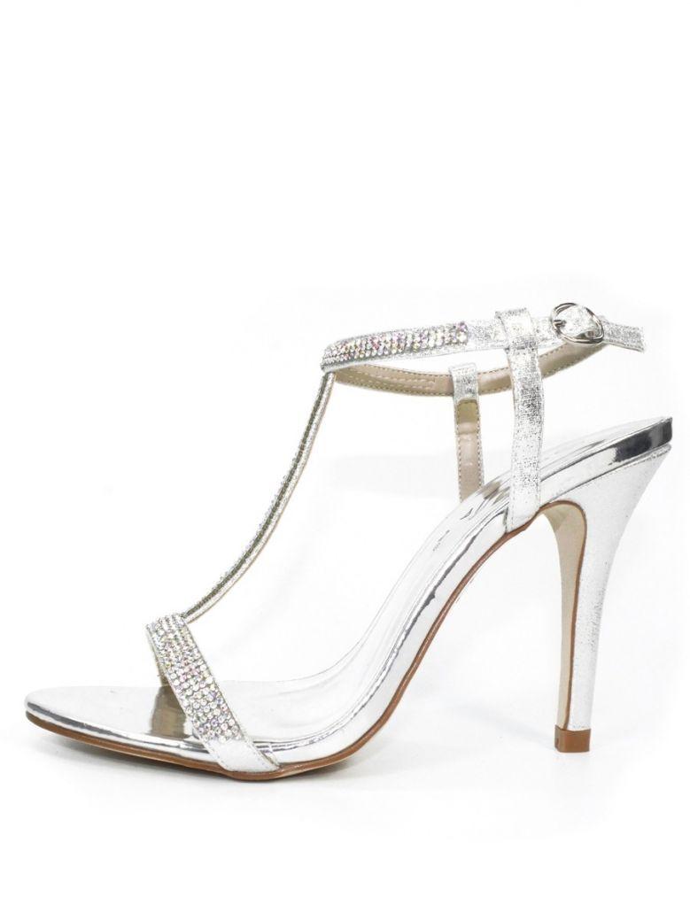 Lunar Silver Potter Gemstone T-Bar Heels