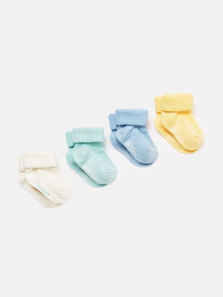 Joules Ribbed Sock Set 4Pk Multi