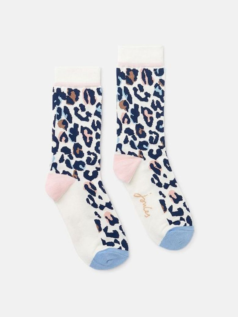 Joules Brill Bamboo Socks Leopard