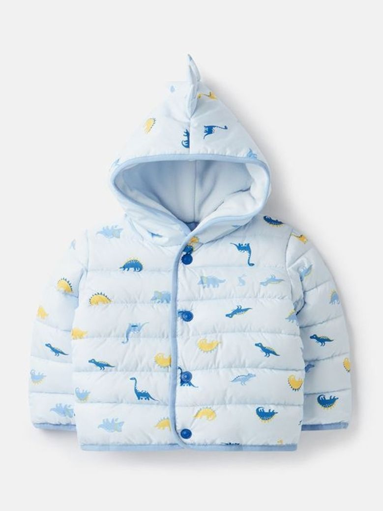 Joules Jessie Printed Padded Coat Blue
