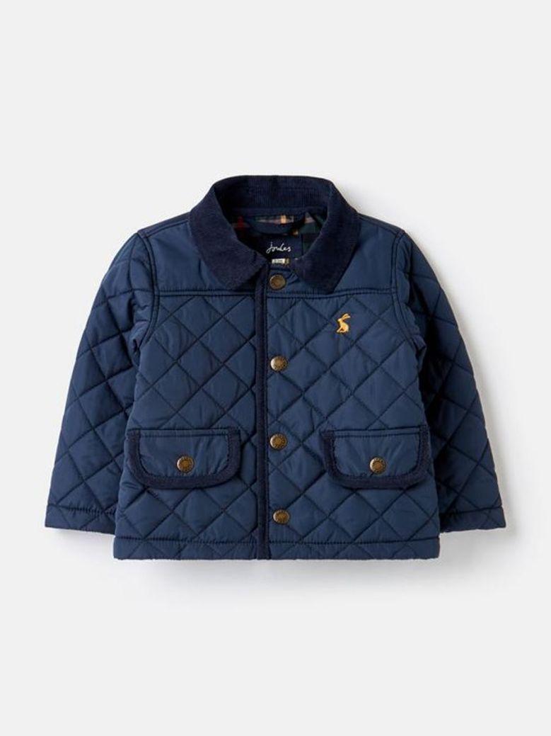 Joules Milford Quilted Jacket Navy