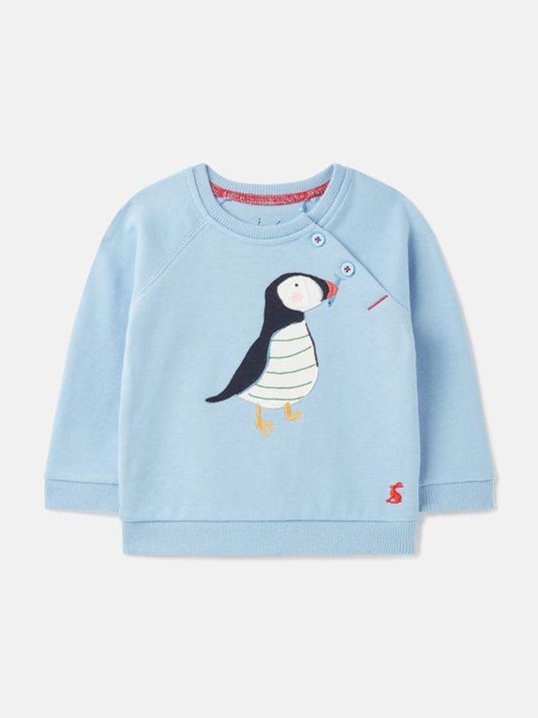 Joules Harvey Raglan Sweatshirt Blue
