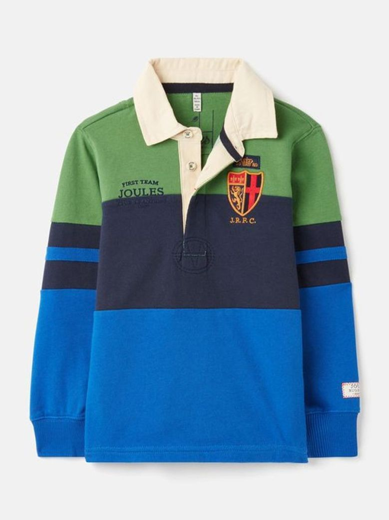 Joules Try Embellished Rugby Shirt Navy