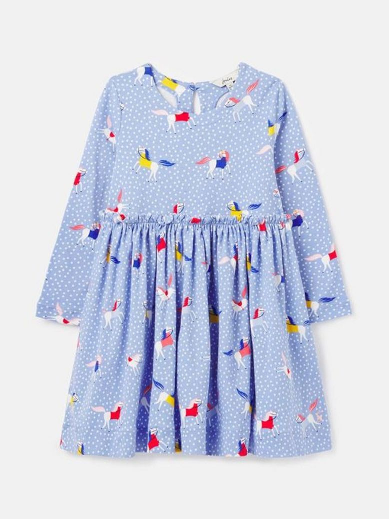 Joules Hampton Paperbag Waist Dress Blue