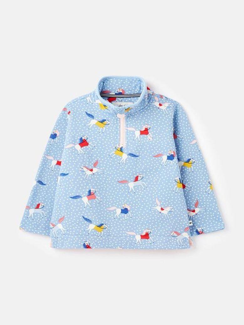 Joules Fairdale Printed Half-Zip Sweatshirt Blue