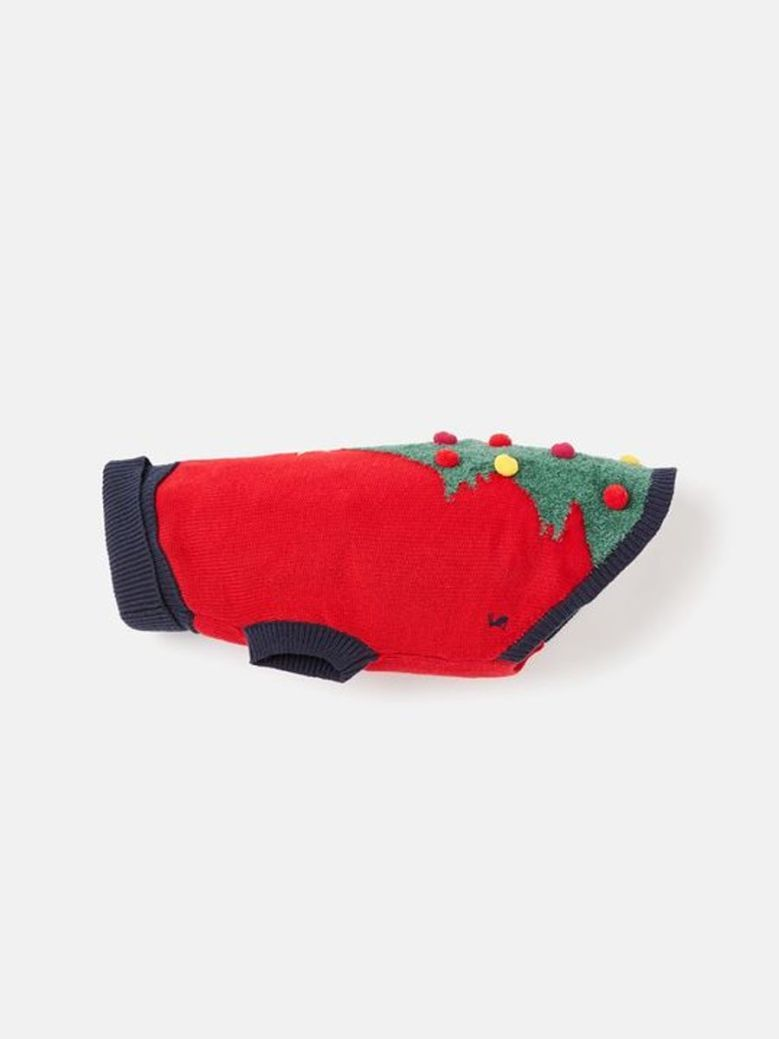 Joules The Cracking Festive Dog Jumper Red