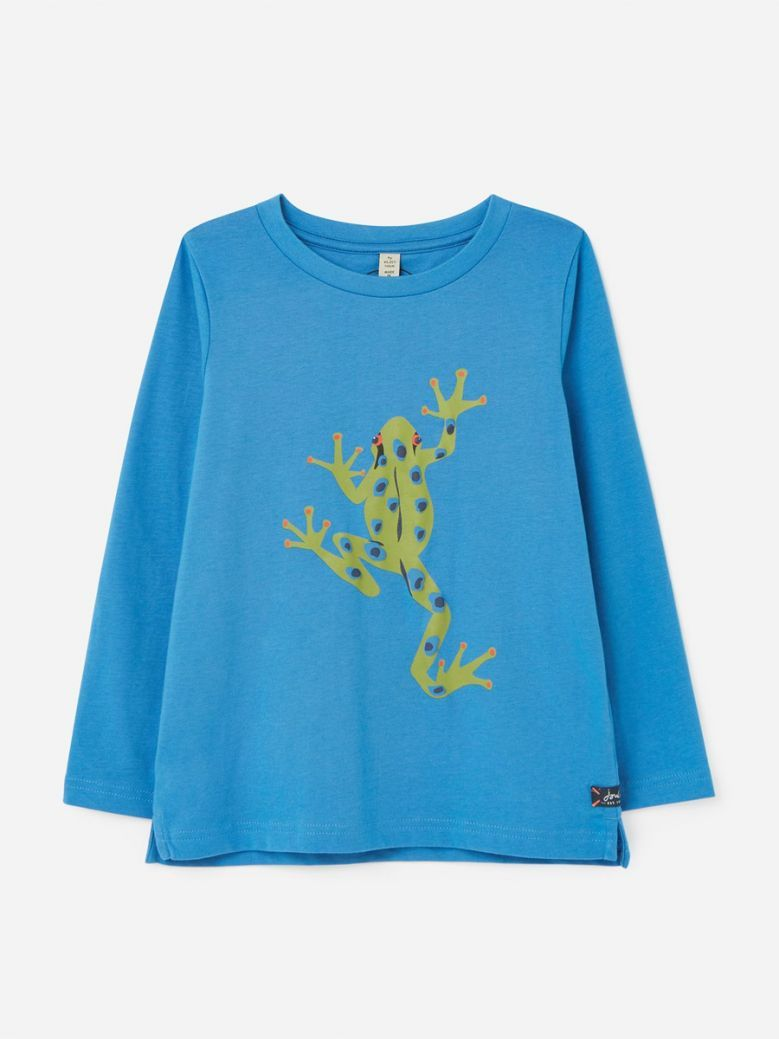 Joules Action Slim Fit Long Sleeve T-Shirt Blue