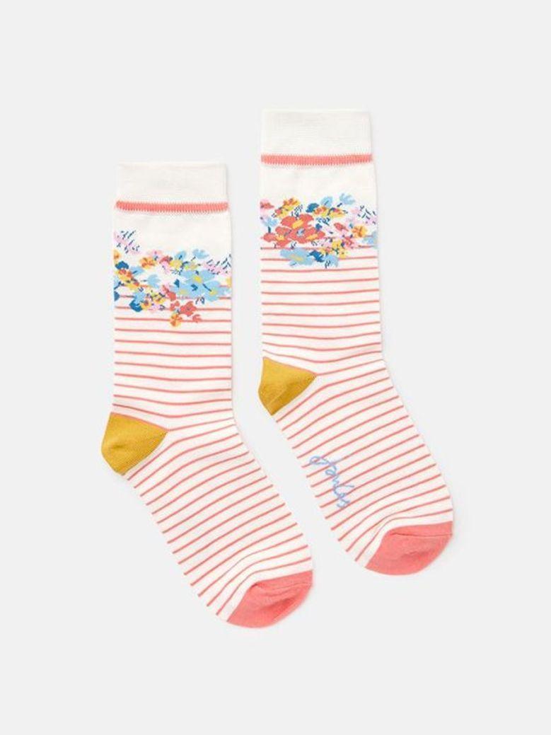 Joules Brill Bamboo Striped Socks Multi