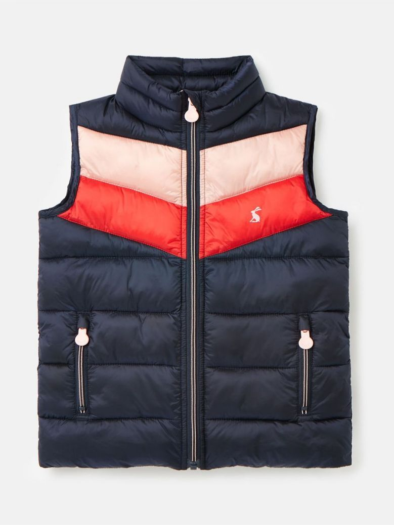 Joules Brook Colour Block Gilet French Navy