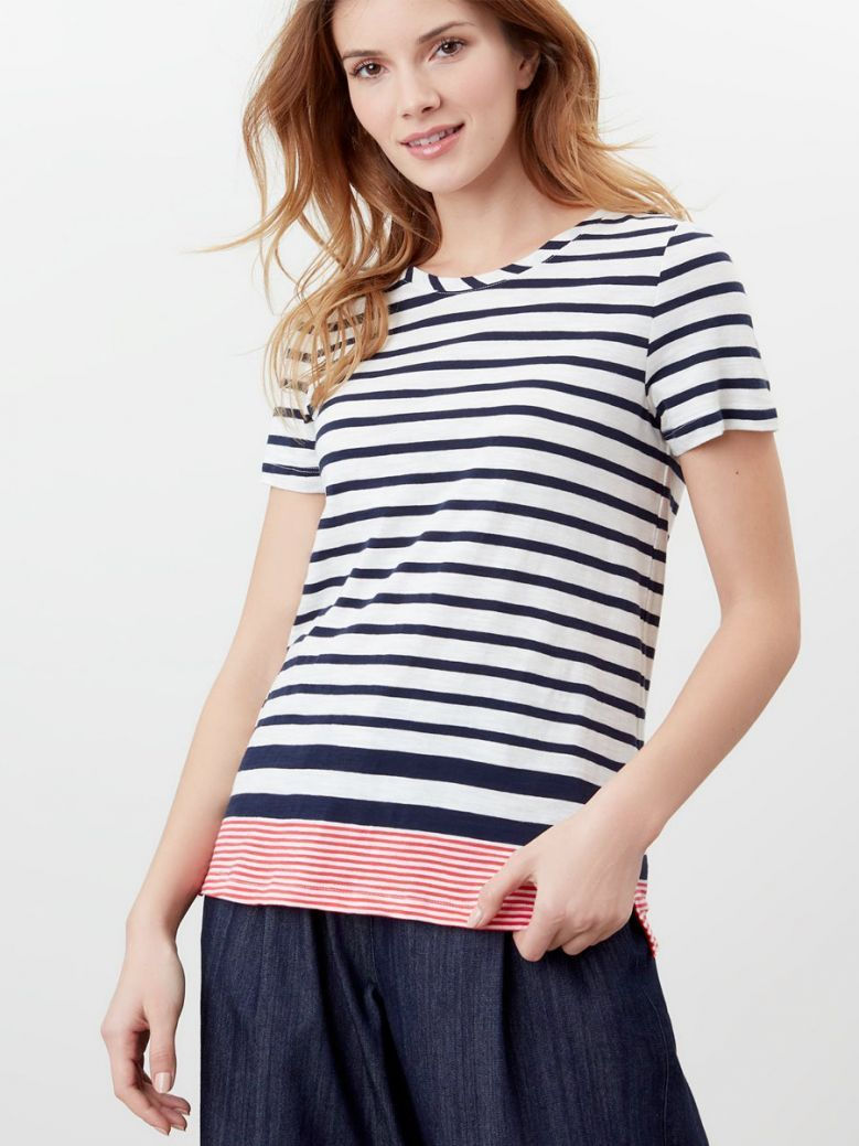 Joules Carley Classic Crew T-Shirt Navy