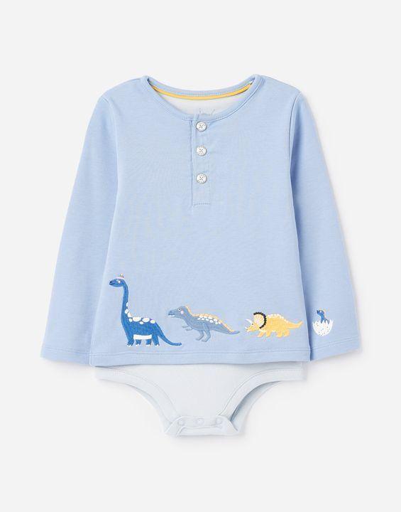 Joules Joshua Mock Layer Babygrow Blue