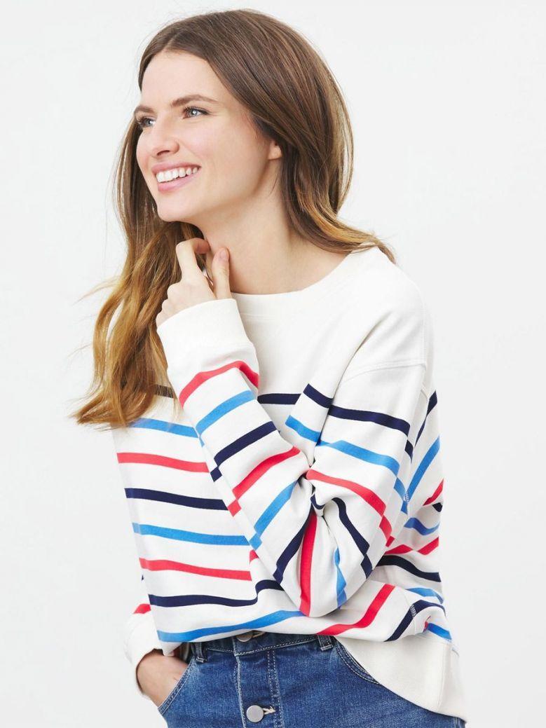 Joules Monique Crew Neck Sweatshirt Multi