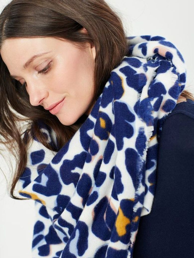 Joules Willow Brushed Soft Handle Printed Scarf Multi