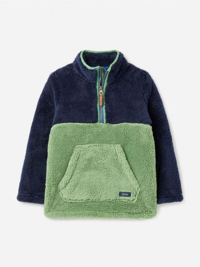 Joules Woozle Overhead Fleece Green
